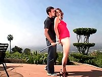Cute redhead fucked by hard cock